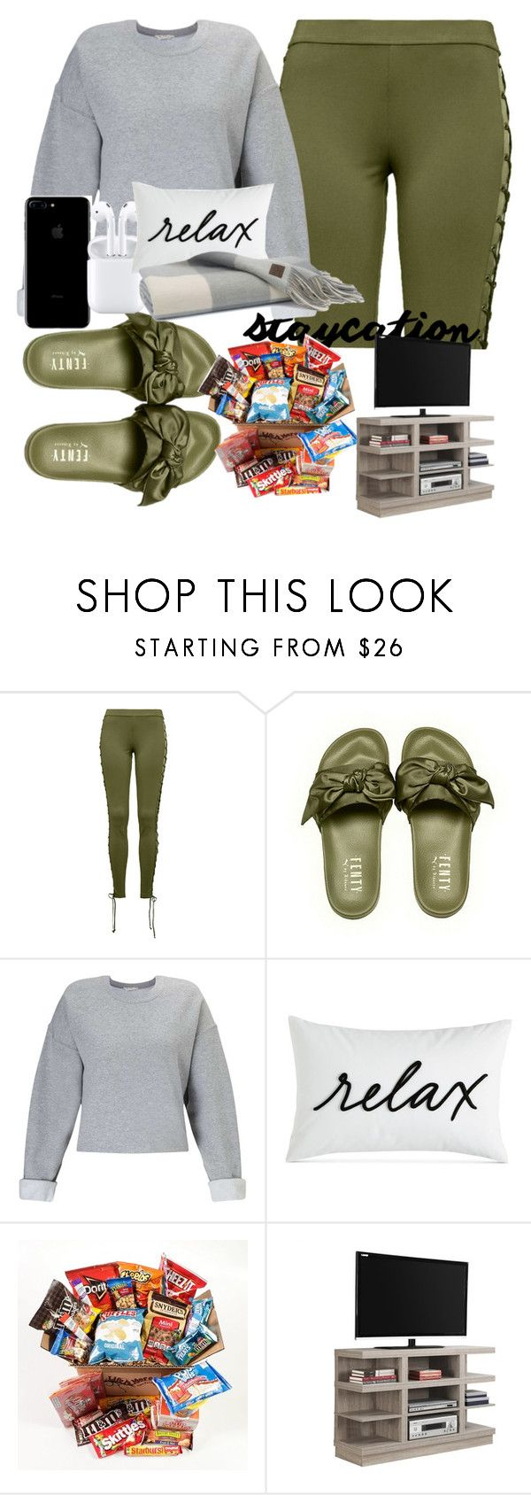"""staycation"" by vjur-tw ❤ liked on Polyvore featuring Puma, Miss Selfridge, Charter Club and Monarch"