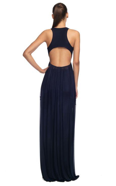 Comprar Vestido de noche bordado con espalda abierta Donna Karan New York en Moda Operandi