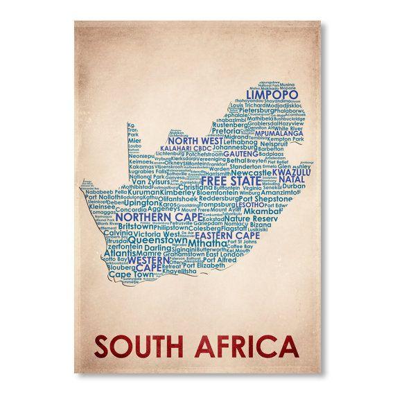 South Africa Word Map 100% Original Design from door FlatironD