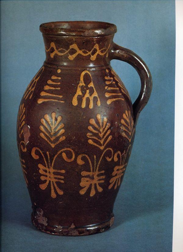 19thC English slipware jug
