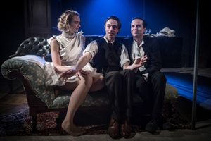 The Dazzle at FOUND111. Joanna Vanderham (Milly), David Dawson (Homer) and Andrew Scott (Langley).