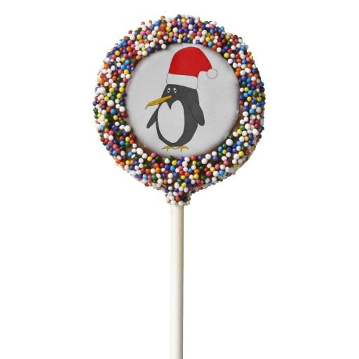 #Santa #Penguin #Cookie #Pops #Chocolate #Dipped #Oreo for you at www.zazzle.com/superdumb #zazzle #superdumb #claus #christmas #xmas