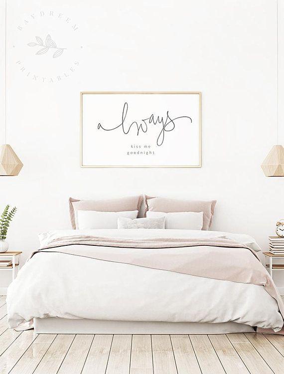 Always Kiss Me Goodnight Printable, Master Bedroom Printable ...