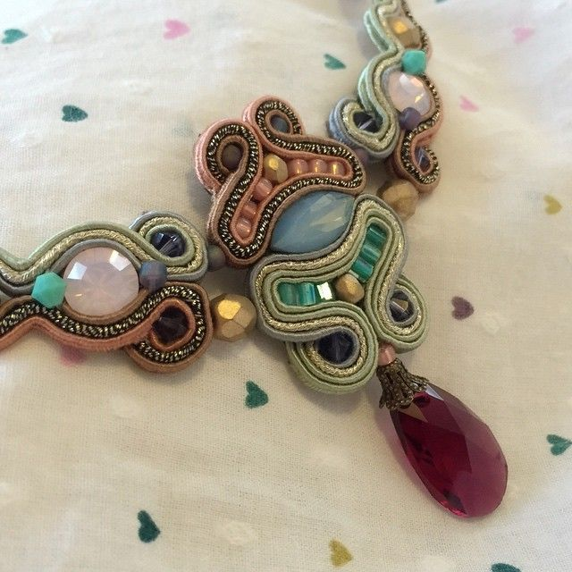 Narnia necklace. #Doricsenger #colors #necklace #summer #pastel #design #soft #pink #jewelry #design