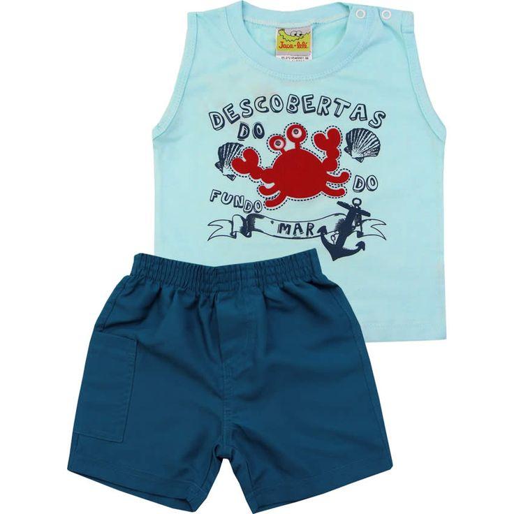 Conjunto de Verão para Bebê Menino Azul - Jaca-Lelé :: 764 Kids | Roupa bebê e infantil