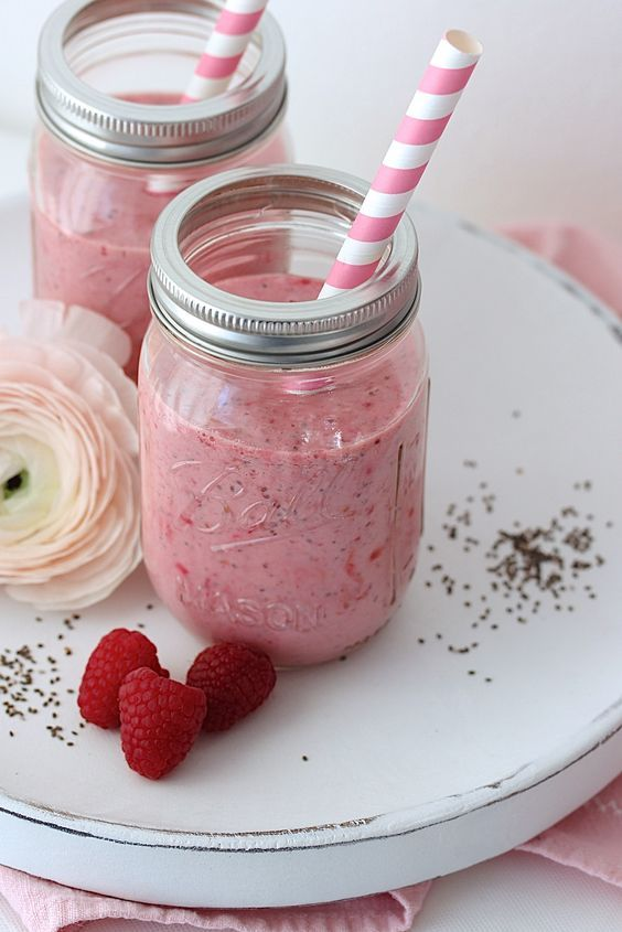 Himbeer-Chia Smoothie by Emma´s Lieblingsstücke