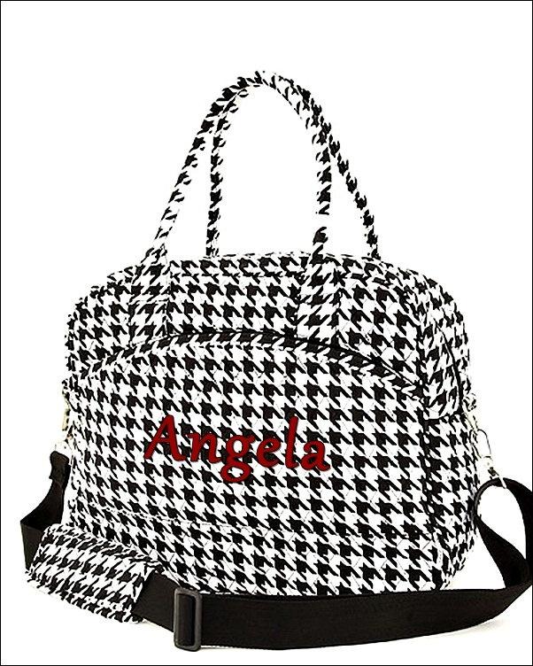 Houndstooth Laptop Shoulder Bag