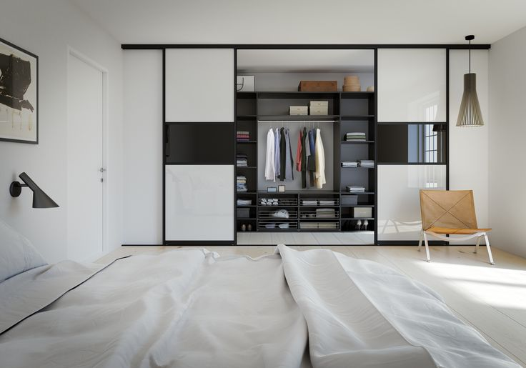 Walk-in heaven! Sliding doors from Kvik.com - and cool danish design black interior as well. What a view :-)