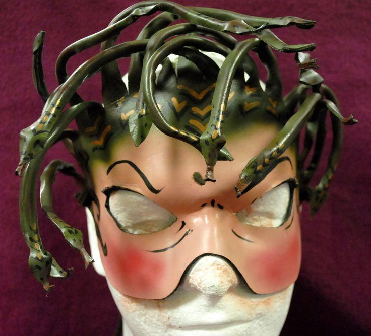 Gorgon Medusa Snake Haired Leather Mask for by DwarvenPaths, $118.00