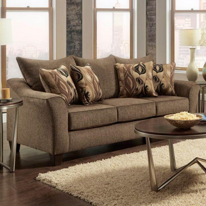 Camero Brown Chenille Sofa | Living Room Under $500 | Sofa, Sofa ...