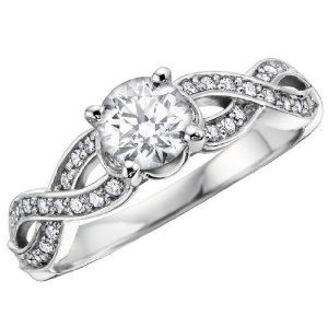 infinity symbol on engagement ring