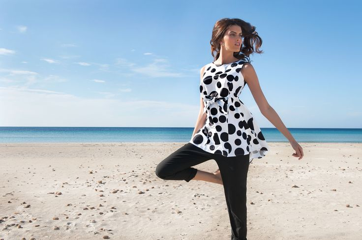 NARACAMICIE black and white polka dots blouse