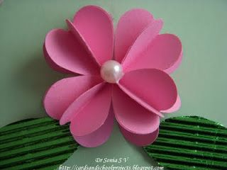 Heart Punch 3 D Flower Tutorial - can also use as an ornament