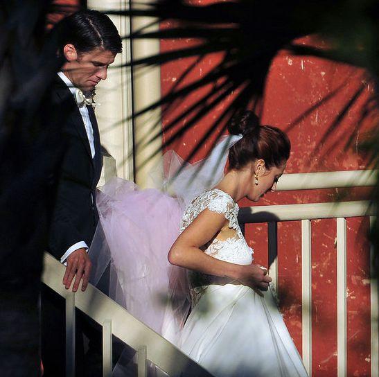 Susan Sarandon's daughter Eva Amurri wed Kyle Martino in Charleston, SC, during October 2011.