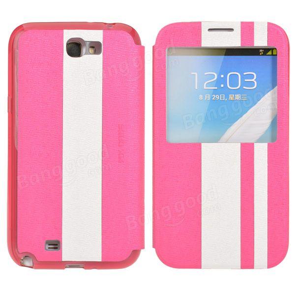 Stripe Pattern Flip Leather Case for Samsung Galaxy Note 2 N7100…