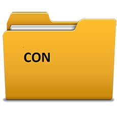 101 percent working solution: How to make folder with name con