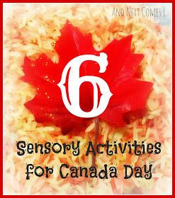Six Sensory Activities for kids to celebrate Canada Day from And Next Comes L