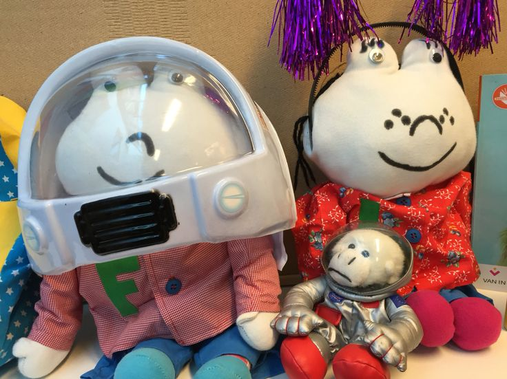 Frokkie en lola gaan ook mee op ruimtereis Thema
