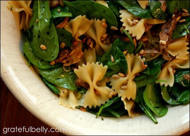 Spinach, Chicken, and Pasta Oriental Salad