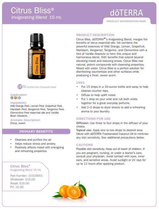 Citrus Bliss Essential Oil Uses: