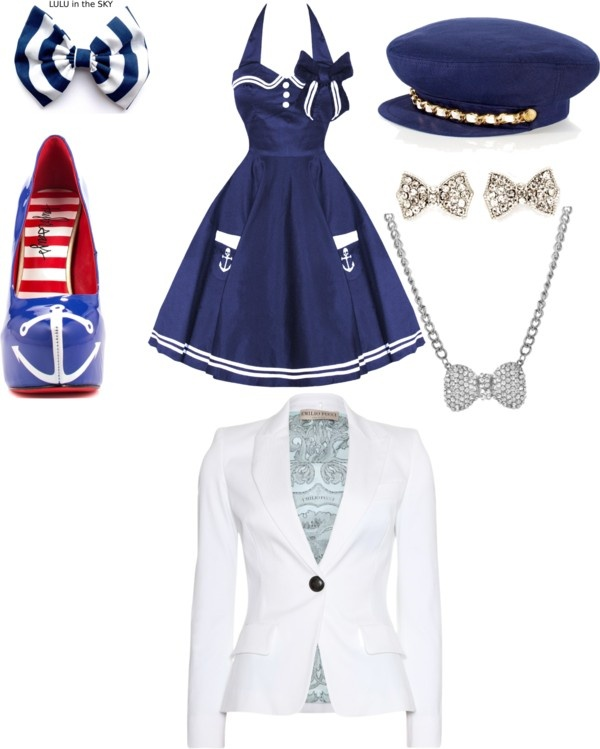 """""""sailors outfit"""" by jadatillman ❤ liked on Polyvore"""