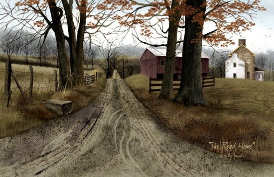 The Road Home Mat features a Billy Jacobs folk art watercolor! KP Creek Gifts