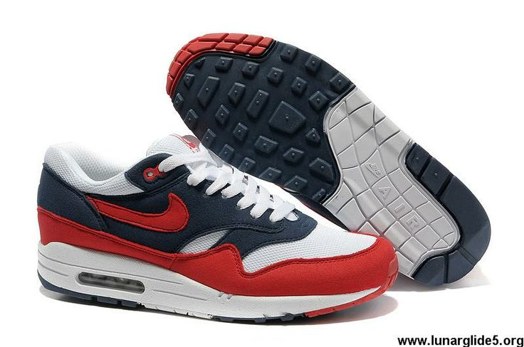New Midnight Navy Action Red White Neptune Blue Nike Air Max 1 ...