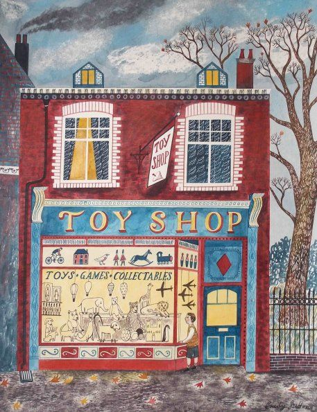 """""""Toy Shop"""" by Emily Sutton. Ink and watercolour on paper"""