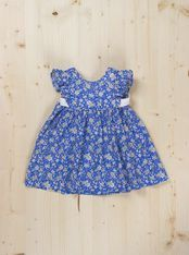 Julia Dress - Dots and Knots Available in green and blue Sizes 9M to 24M