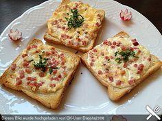 Flammkuchen - Toast, ein raffiniertes Rezept aus der Kategorie Party. Bewertungen: 191. Durchschnitt: Ø 4,4.