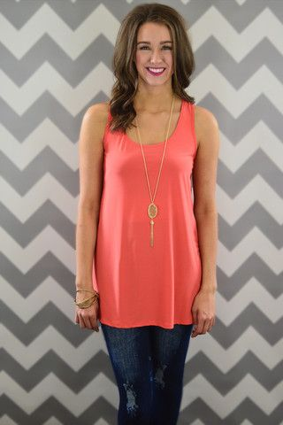 Coral Day to Day Tank – The ZigZag Stripe