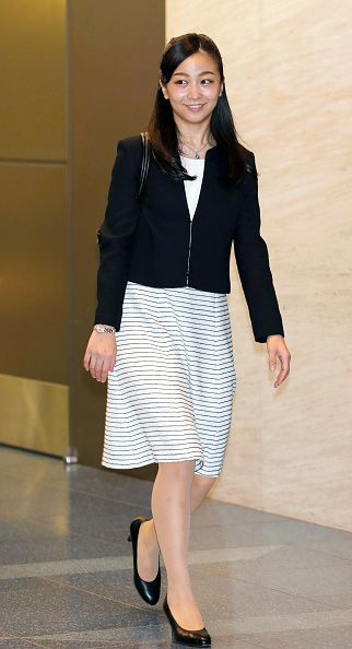 Princess Kako of Akishino is seen on departure at Haneda International Airport on September 12, 2017 in Tokyo, Japan. Kako, 22, will study history, theory and other subjects in theatrical art at the School of Performance and Cultural Industries of the University of Leeds until June 2018.