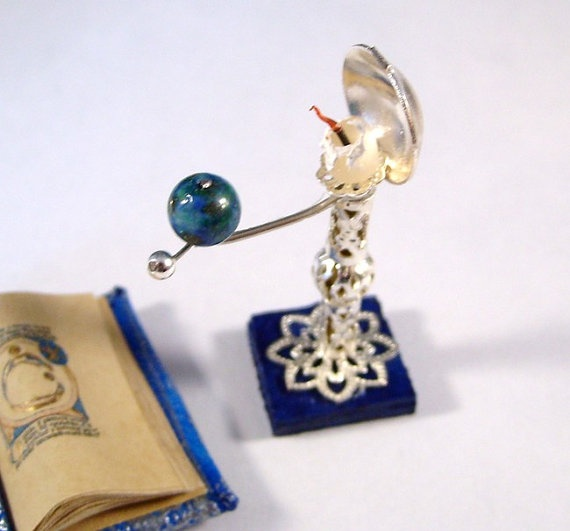 Miniature Medieval Movable Reflector Earth Orrery and by whydgc, $38.00