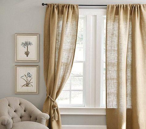 Burlap Curtains  Curtains  Burlap Drapes  door AJRUSTICCREATIONS