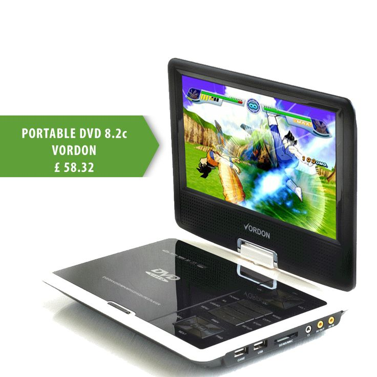 Watch TV and DVD movies anywhere you want with our Portable DVD player :)  http://turanshop.co.uk/vordon/51881-portable-dvd-82c-vordon.html?  #dvd #tv #usb #watchmovies #portable #vordon