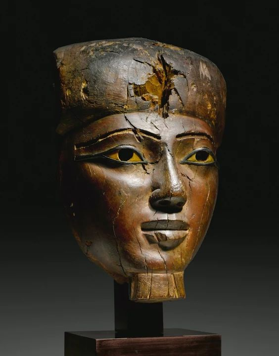 Photo: Ancient Egyptian Sculpture...A Large Egyptian Wood Mummy Mask, 25th/early 26th Dynasty, circa 750-600 B.C.... Very beautiul!  Source: Sotheby's  #egypt   #egyptian   #egyptians   #artwork   #masterpiece   #sculpture   #sculptures   #art   #ancient   #ancientcivilization   #antiques