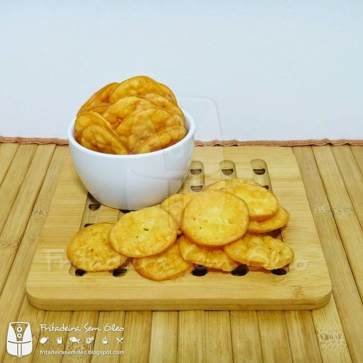 Chips de Provolone na AirFryer   Fritadeira sem Óleo - AirFryer