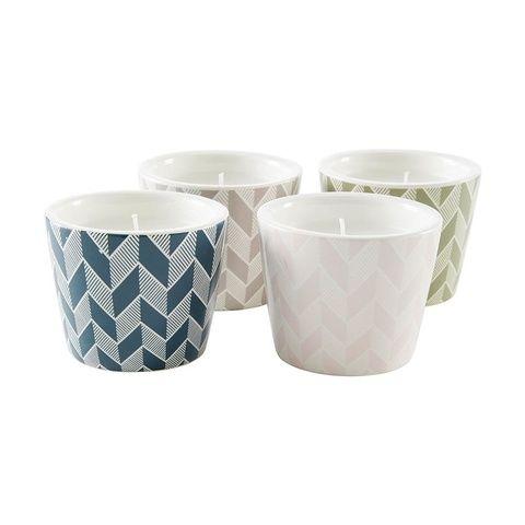 Citronella Pattern Pots - Set of 4