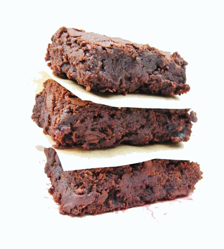 Vegan Prune & Chocolate Fudge Brownies -  Fudgy chocolate brownies that are egg and dairy free. Made with bitter dark chocolate, prunes for sweetness and flaxseeds for a healthy boost.