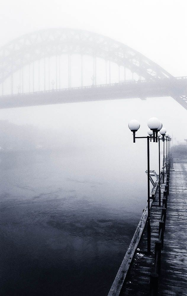 Black & White - The Wearmouth bridge, Sunderland, England. I wandered on this bridge quite a bit :)