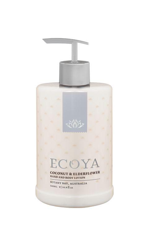 Ecoya Hand & Body Lotion 500ml Coconut & Elder Flower