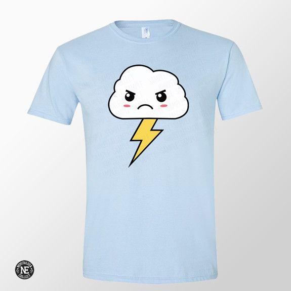 Angry Storm Cloud - Japanese Emoji Shirt