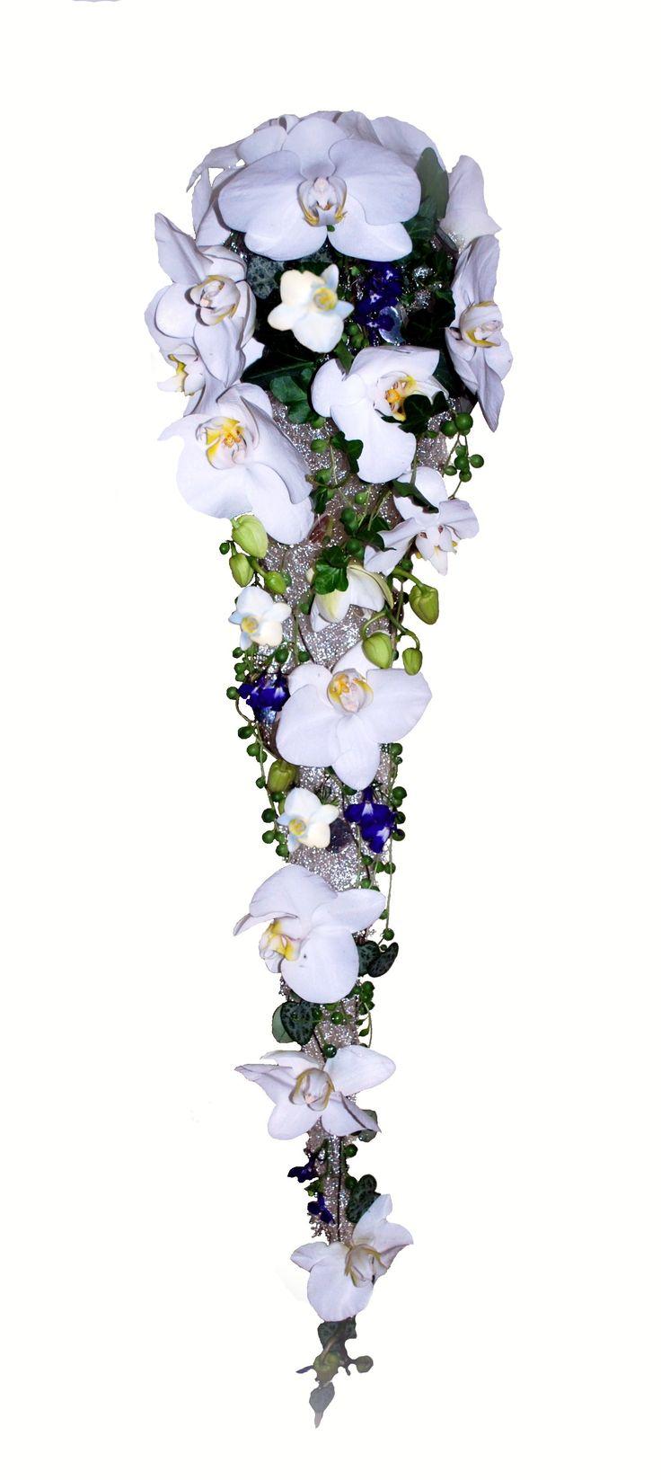 Brudebukett hvit orkide