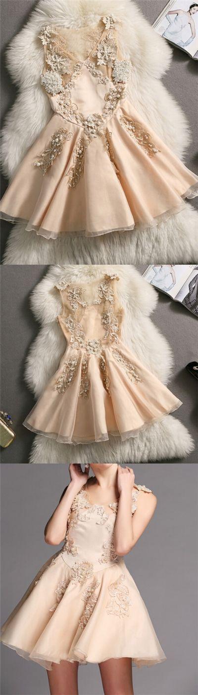 2017 Homecoming Dress Sexy V-neck Beading Short Prom Dress Party Dress JK166