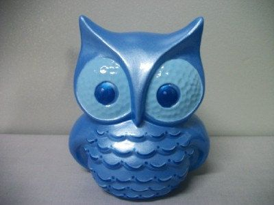 Blue Owl Home Decor By Tlcceramicsil On Etsy 25 00