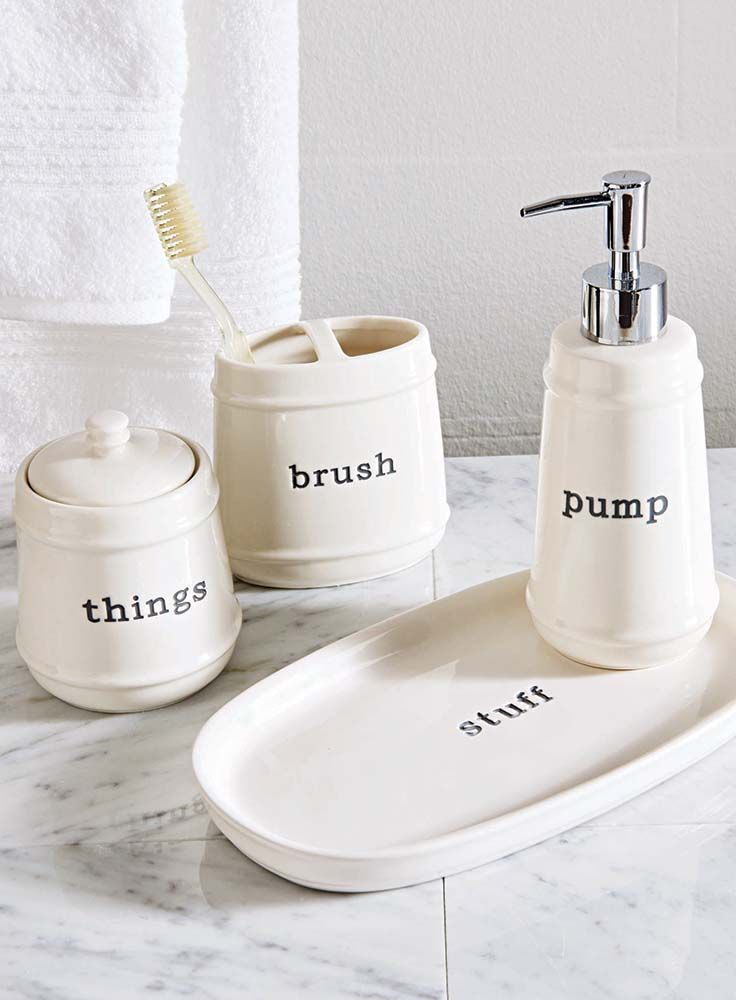 Better Homes And Gardens Quot Words Quot Toothbrush Holder
