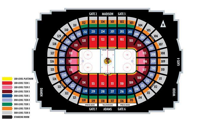 Chicago Blackhawks Seating Chart