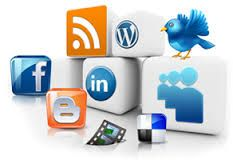 Many companies get the names of their business out through the use of social media.