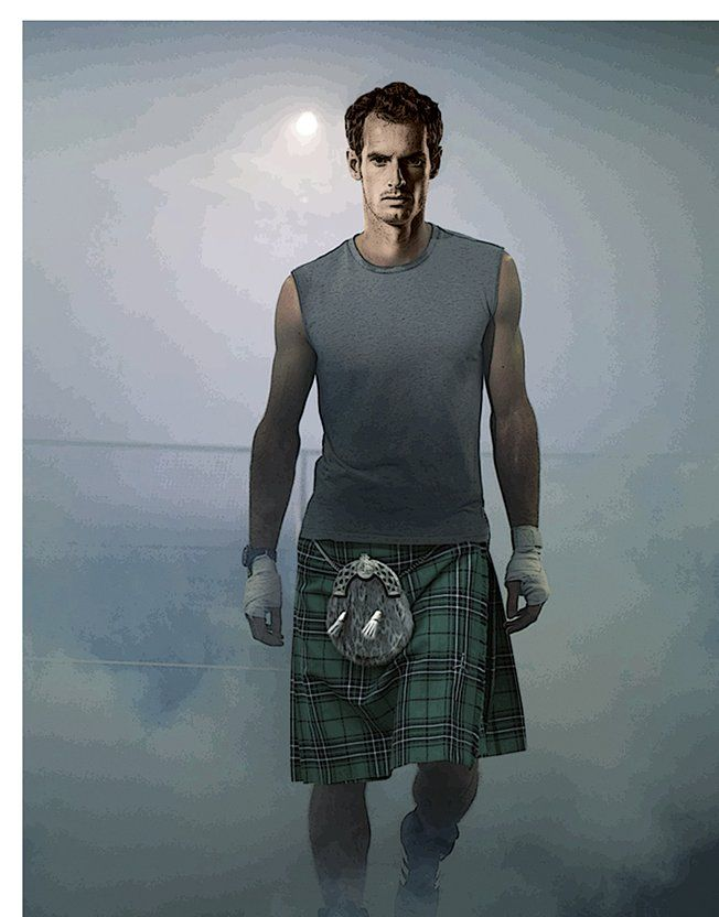 Andy Murray, promoting equal pay for players in skirts. LOVE him!