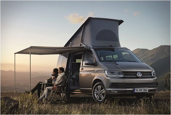 """The California Camper Van by Volkswagen comes in 2 options. The """"Beach"""" model and the """"Ocean""""."""